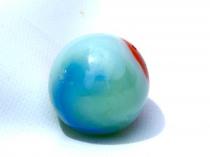 Vintage Akro Agate Red White & Blue Shooter Marble