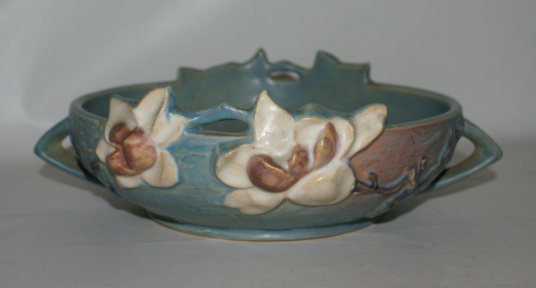 Roseville Blue Magnolia Bowl