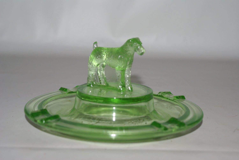 Greenburg Glass Irish Terrier Ashtray