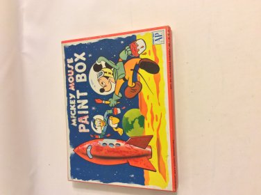 Mid Century Mickey Mouse Water Color Paint Tin