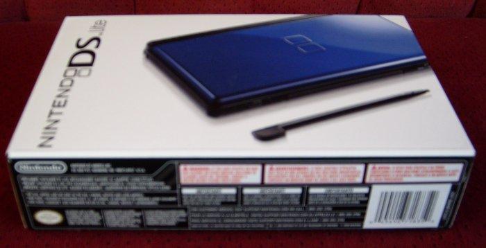 New Nintendo DS Lite Cobalt Blue & Black with accessories bundle.