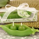 Two Peas in a Pod Candle Baby Shower Favor (set of 4)