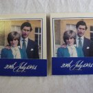 2 Princess Diana Prince Charles Royal Wedding Souvenir Match Books