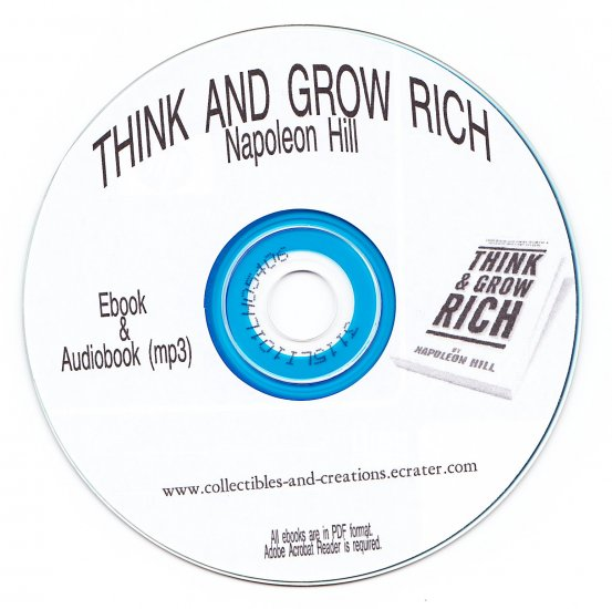 THINK AND GROW RICH ebook AND audiobook (mp3) on cd