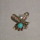 Vintage Jelly Belly Bee Pin AB Paste Wings and Red Eyes