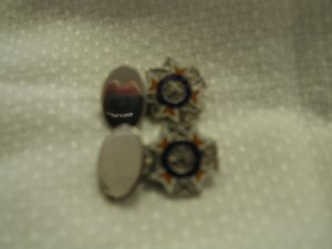 Vintage Sterling Silver and Enamel VFW Auxiliary Cuff Links