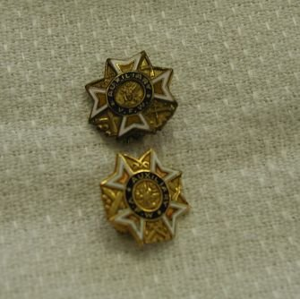 Vintage Pair VFW Auxiliary Pins