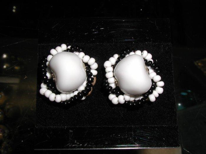 Miriam Haskell Clip Earrings