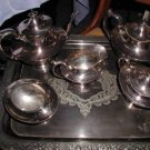 "ANTIQUE REED & BARTON UNIQUE SILVER TEA & COFFEE SET 1889-1914 ""B"" MONOGRAM"