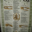 Irish Songs and Ballads Tea Towel, Rose of Tralee, Molly Malone, Galaway Bay