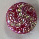 Vintage Exquisit Western Germany Glass Button Aurora Borealis