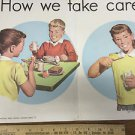 Vintage 1960s School How We Take Care of Our Teeth Poster