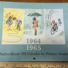 Vintage 1964/65 Curriculum School Calendar Primary Grades Scott Foresman Co