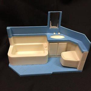 Vintage Little Tikes Bathroom Doll House Miniature