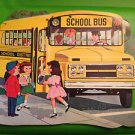 VTG DENNISON SCHOOL BUS DIE CUT DECORATION 16""