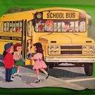 """VTG DENNISON SCHOOL BUS DIE CUT DECORATION 16"""""""