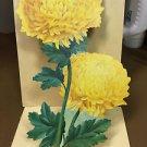 """Vintage DENNISON FLOWER CHRYSANTHMUM Mum 10F Paper Diecut Die Cut 10"""""""