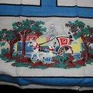 Vintage Linen Tea Kitchen Towel Horse and Carraige Scene