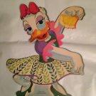 """Vintage Disney Dennison 10"""" Daisy Duck Die Cut Cardboard Decoration 60s"""