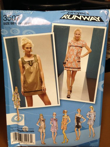 Simplicity Project Runway Pattern #3507  New Unused, Factory Folded Size BB
