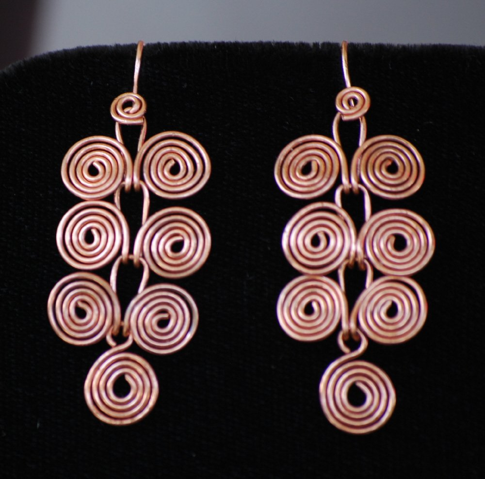 Jewelry TUTORIAL Wire Wrapping Egyptian Coils Dangle Earrings ...
