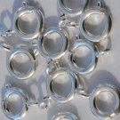 Silver Plated 11mm Spring Ring Clasp Findings Qty 10