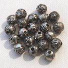 Rose Silverplated Beads 5mm Qty 10