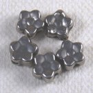 Small Flower Silverplated Beads 5x3mm Qty 5
