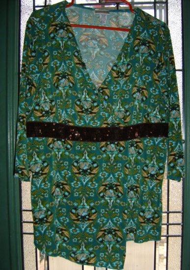 Fashion Bug  Wrap Style Top 3/4 length sleeves 18/20  Cute