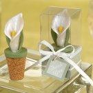 Elegant Calla Lily Bottle Stopper in Planter Gift Box (Set of 4)
