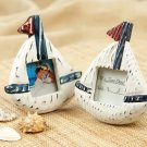 'Come Sail Away' Handcrafted Wooden Sailboat Frames (Set of 4)