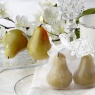 "The Perfect ""Pair"" Pear Candles in Sheer Organza Bag with Leaf Tag"