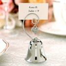 """Charming"" Silver Bell with Dangling Heart Charm (Set of 4)"