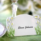 Ceramic Callalily Erasable Place Card Holder Magnet