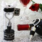 Sterling Heart Bottle Stopper in Tall Showcase Display Box