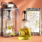 """Olive You!"" Glass LOVE Oil Bottle in Signature Tuscan Box"
