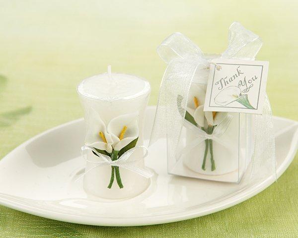 'Calla Lily Elegance' Vase Shaped Candle