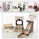 'Signature Style' Purse and Shoe Favor Box/ Place Card Holders (Set of 12)