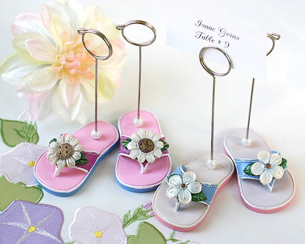 Garden Party Flip Flop Placecard Holders - Set of 4 (2 pairs)