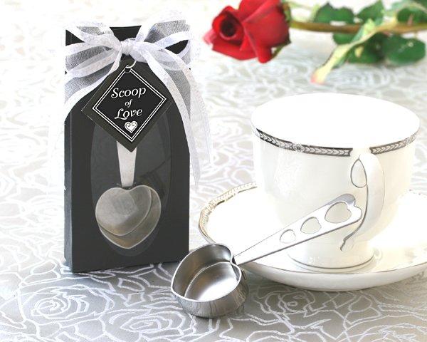 """""""Scoop of Love"""" Heart Coffee Scoop in Elegant Gift Box"""