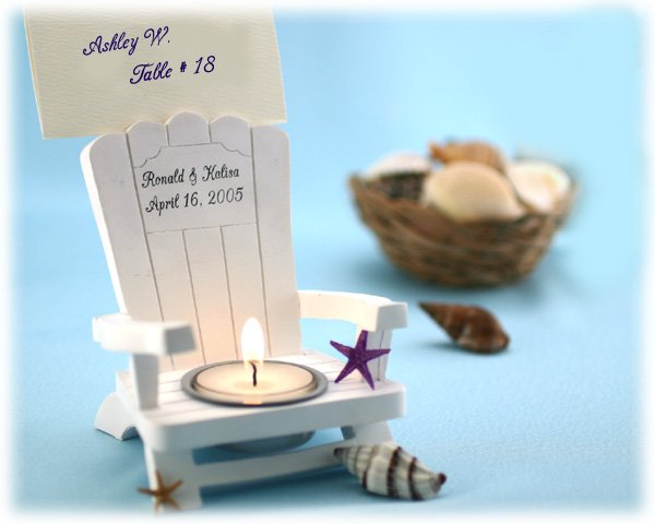 Personalized Adirondack Chair Tealight and Place Card Holder