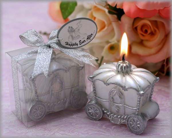 """""""Happily Ever After"""" Carriage Candle"""