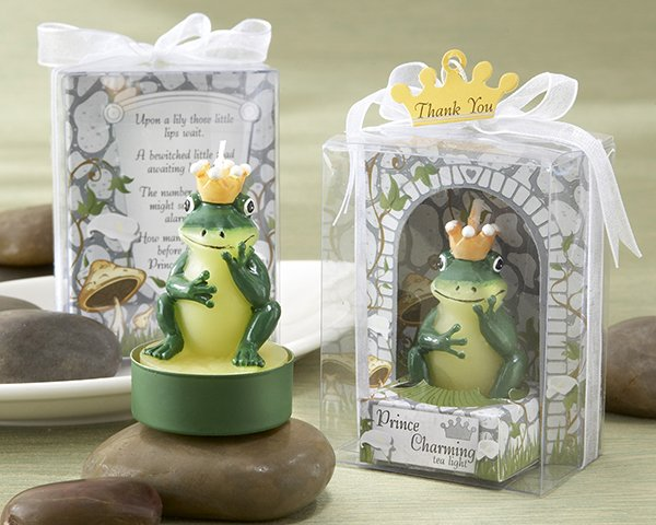 """""""Prince Charming"""" Tea Light  in Castle Setting Giftbox (Set of Four)"""