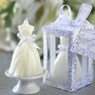 "Wedding Gown Candle in Designer ""Window Shop"" Gift Box (Set of 4)"