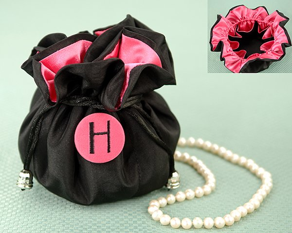 """""""The Cosmopolitan"""" Monogrammed Jewelry Pouch"""