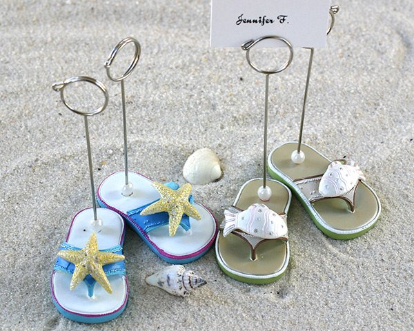 Beachcombers Flip Flop Placecard Holders - Set of 4 (2 pairs)
