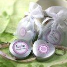 """""""Love Beyond Measure"""" Measuring Tape Keychain in Sheer Organza Bag"""