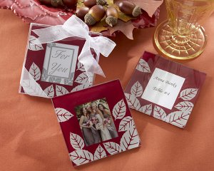 """Fall Impressions"" Glass Photo  Coasters -Set of 2"