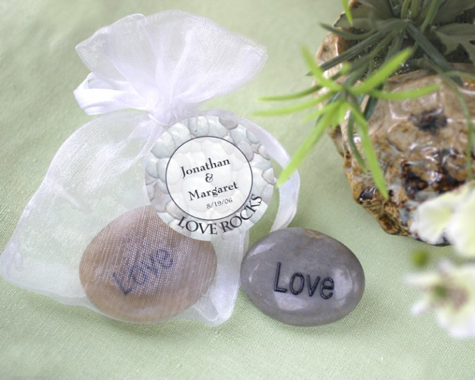 """""""Love Rocks"""" Engraved and Polished Stone"""