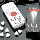 'Mint to Be' Bride and Groom Slide Mint Tins with Heart Mints